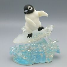 Hamilton Collection Penguin Figurine Sculpture Surfs Up Chillin In Sun