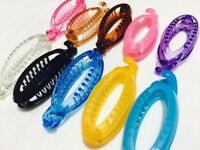 2 * Double Teeth Girls Women Hair Ponytail Fish Banana Clip Comb Clamp Grip