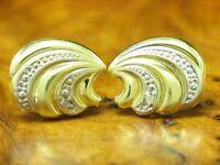 14kt 585 Gelbgold Ohrstecker mit Diamant Besatz / Ohrringe / 1,1g