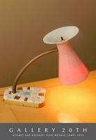 FAB! MID CENTURY MODERN PINK ATOMIC GOOGIE MOSAIC LAMP! 1950S FIBERGLASS SHADE