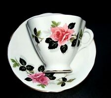 Teacup - Clarence - Pink Roses  - Bone China - Made in England