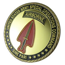 "U.S. ARMY Special Operations Command ""sine pari"" GP coin 1072#"