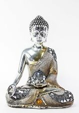 "Feng Shui 8"" Electroplated Buddha with Teaching Mudra Figurine Peace Statues"