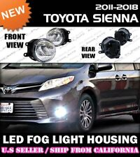 11-18 TOYOTA SIENNA LED Fog Light Replacement Housing Lamp (CLEAR/PAIR)