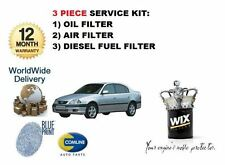 FOR TOYOTA AVENSIS 2.0TD D4D 1999-2003 OIL AIR FUEL FILTER SERVICE KIT