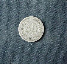 Zilveren munt Zweden: 25 Ore 1881 EB