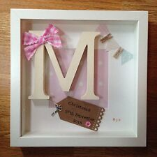Personalised Birth New Baby Christening Gift Present Keepsake Frame Picture Box