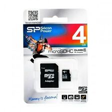 Scheda Di Memoria Memory Card MicroSd HC Class 4 4GB Silicon Power hsb