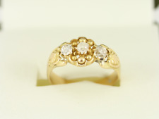 Diamond Trilogy Ring 18ct Gold Ladies Size O 750 3.8g Dh36