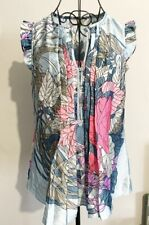 Wallis Floral Tank Top Blouse Best Silk Style Womens Size Small 8-10 Uk