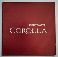 "ORIGINAL 1978 TOYOTA COROLLA PRESTIGE SALES BROCHURE ~ 20 PAGES ~11"" X 11"" ~78TC"