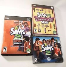 Sims 2 PC Bundle Sims2, Glamour Life Stuff, Open for Business, Installation Code