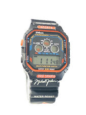 Vintage Michael Jordan Watch Digital Lcd Wilson Wristwatch Chicago Bulls(1513M)