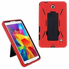 Red Hybrid Hard Case Skin Cover For Samsung Galaxy Tab 3 E Lite 7.0 T110