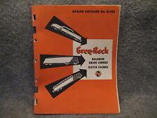 Grey-Rock Balanced Brake Linings & Cluth Facings Book Booklet Catalog No. D-103