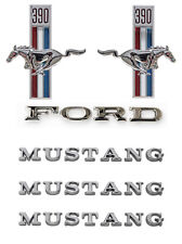 NEW! 1967 Ford Mustang 390 Running Horse Emblem Kit Fenders Hood Trunk 6 pc Set