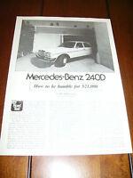 1980 MERCEDES BENZ 240D ORIGINAL ARTICLE / ROAD TEST
