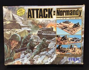 "Vintage MPC Airfix 1/76 1/72 20mm WWII ""Attack: Normandy"" D-Day Diorama Set"