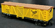 LIFE LIKE The Katy HO SCALE TRAIN  Yellow CATTLE CAR MKT 4702 VINTAGE