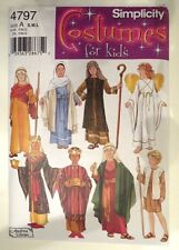 Simplicity NEW H0140 or 4797 Size S,M,L Kids Christmas Pageant, Angel, Wise Men