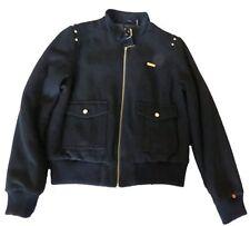 Sean John Womens Wool Melton Coat Black