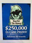 Vintage Arkansas Gazette Newspaper Horse Racing Promo Poster Print Sign Oaklawn