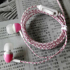 Glow In The Dark Led Earphone Luminous Neon Headset With Mic For iPhone Samsung