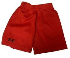 Under Armour Shorts Orange Black logo youth boys size 5 elastic waist