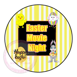 Easter Movie Night Popcorn Hotdog Family Film Cinema Sweets Cone Party Kids