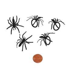 HALLOWEEN 12 Plastic Spider Rings Cupcake Decorations