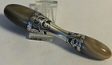 Antique  Sterling Silver Glove Darner Mother of Pearl  MOP Sewing #371