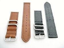 20,22 mm Men Watch Replacement Wrist Band Top Grain Leather Strap Metal Loop JTC