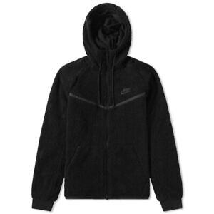 Men's Nike Tech Sherpa Fleece Hoodie Black Runner Medium £140