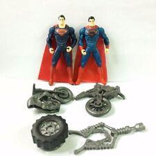 "Lot 2x DC Comics Super-Man Of Steel Tread Attack Master 3.75"" Figure & accessory"