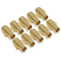 "(10) 3/4"" x 1/2"" PEX BRASS REDUCING COUPLINGS Crimp Fitting Plumbing LEAD FREE"