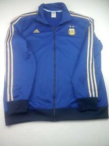 Adidas Argentina AFA Longsleeve Zip Jacket Top Soccer Jersey Shirt Mens Size XL