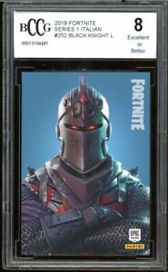 2019 Fortnite Italian #252 Black Knight Card BGS BCCG 8 Excellent+