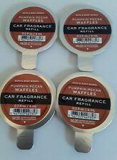 Pack of 4 Bath & Body Works PUMPKIN PECAN WAFFLES Car Fragrance Refills