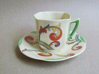 ROYAL DOULTON SYREN D5102 COFFEE CUP & SAUCER - ART DECO (Ref5493)