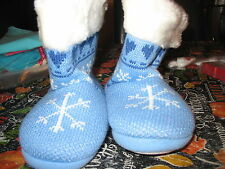 American Girl Cl My Ag Polar Bear Knit Booties X-Large for Girls Slippers New