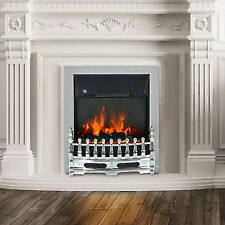 Electric Fireplace Coal Burning Flame Effect Fire Place LED Lighting Remote 2kw