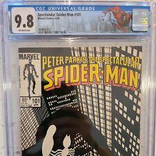 Spectacular Spider-Man #101 CGC 9.8 NM/MT OW Byrne symbiote crossroads 2 variant