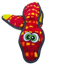 Outward Hound Tough Seamz 6-Squeaker Snake Dog Toy with No Stuffing
