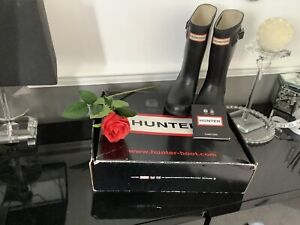 Hunter Wellies Size 10 With Rear Safety Reflectors (Boxed)