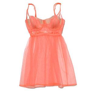 Victoria's Secret Lingerie Slip Babydoll Sexy Floral Lace Sleepwear New Nwt Vs