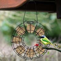 Hanging Wild Bird Feeder Fat Ball Holder Round Metal Large Food Ring Yard Garden