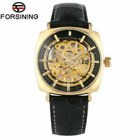 Men Watch Forsining Automatic-self-winding Mechanical Watches Leather Strap Gift