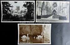 Somerset 3 x WELLS CATHEDRAL - Old RP Postcard by Walter Scott