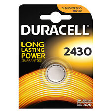 DURACELL 2430 1PZ BATTERIA BOTTONE LITIO 3V DL2430 ECR2430 CR2430 PILA MONOUSO
