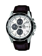 Casio Mens Edifice Stainless Steel & Brown Leather Chronograph Watch EFR526L-7AV